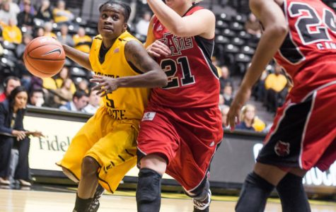 Lady Shockers dance with Red Wolves, improve to 6-2 record