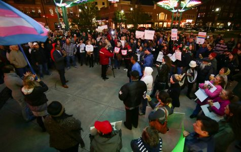 Hundreds gather for anti-Trump protest