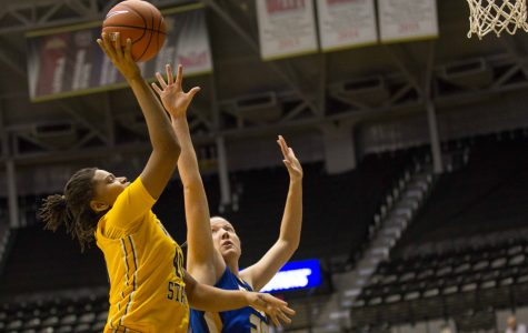 Lady Jackrabbits out-jump, out-rebound Shockers