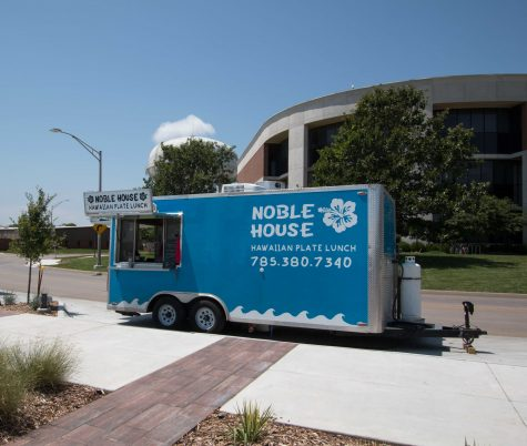 Noble House Hawaiian Plate lunch s its outside the WSU Food Truck Plaza on July 13. Chef Akamu owner of Noble House is opening a resturant near Douglas and Hillside