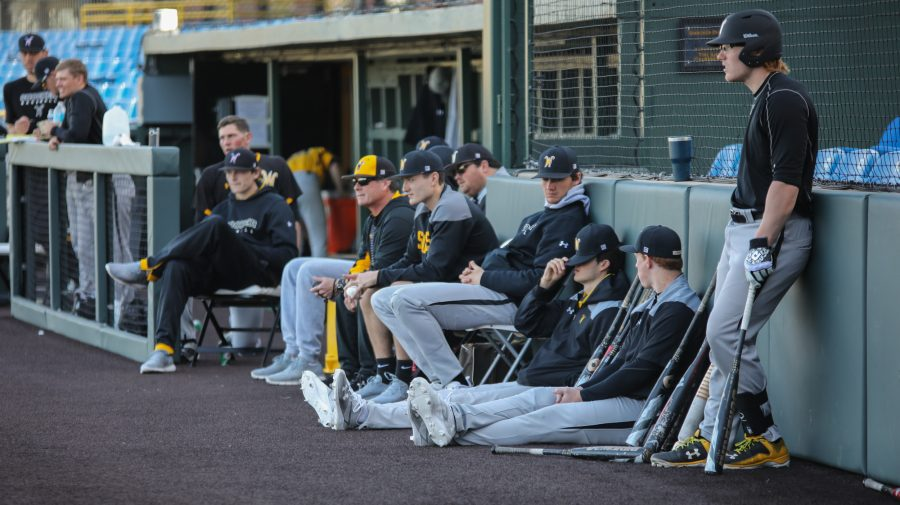 The+Wichita+State+baseball+team+scrimmages+at+Eck+Stadium+on+Feb.+10%2C+2017.