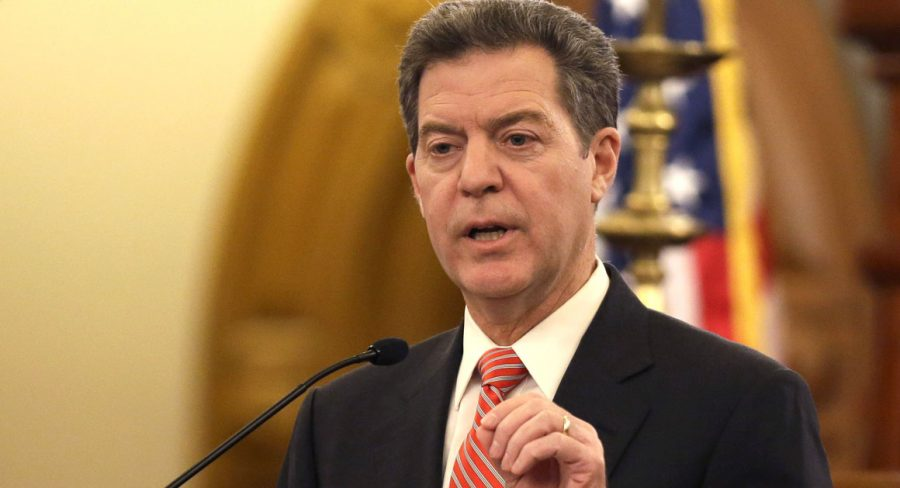 Gov.+Sam+Brownback+delivers+his+State+of+the+State+address+at+the+Kansas+Statehouse+in+Topeka%2C+Kan.%2C+Thursday%2C+Jan.+15%2C+2015.+%28AP+Photo%2FOrlin+Wagner%29