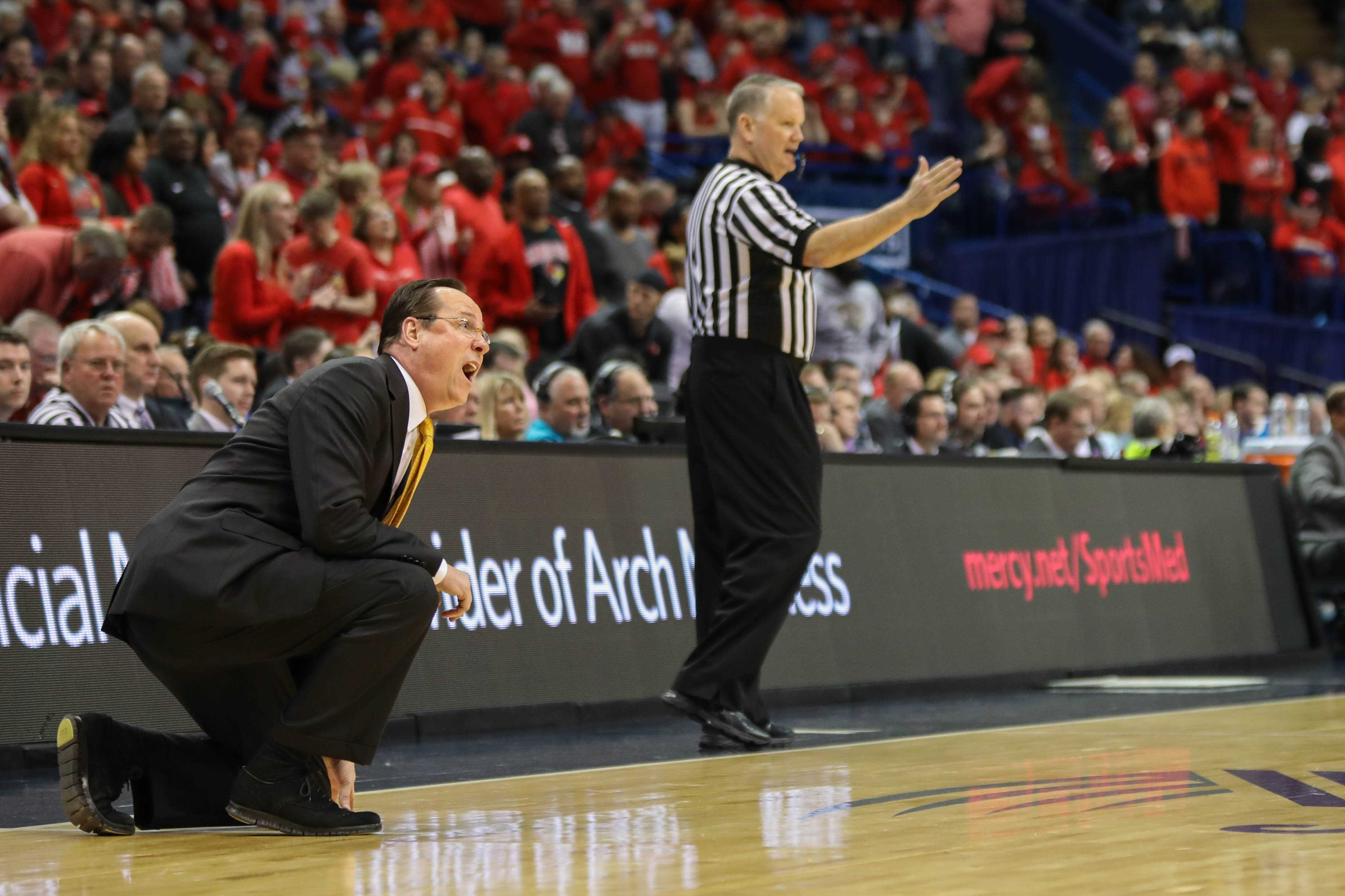 Coach Gregg Marshall screams on the sidelines.