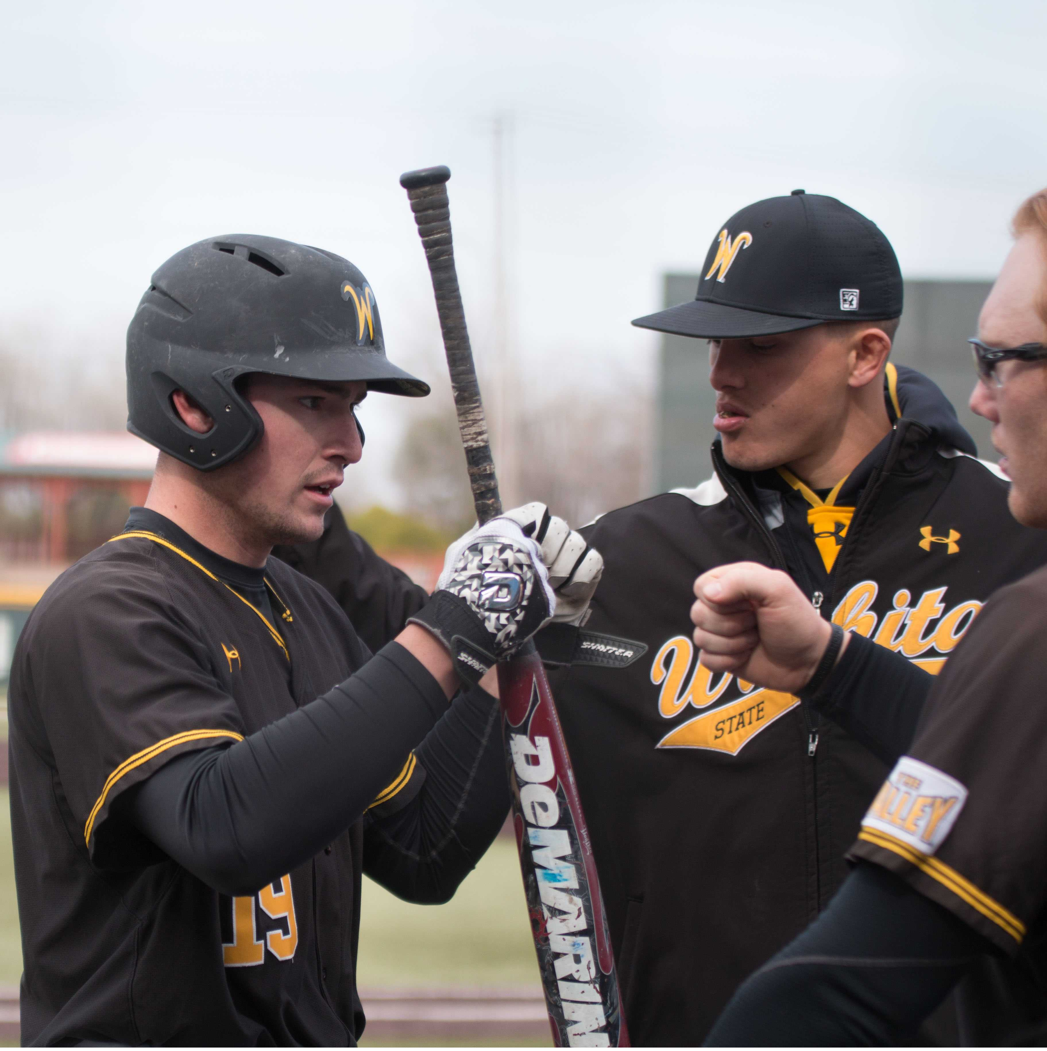 Sophomore Luke Ritter is met by teammates on the field after scoring against Northern Colorado.