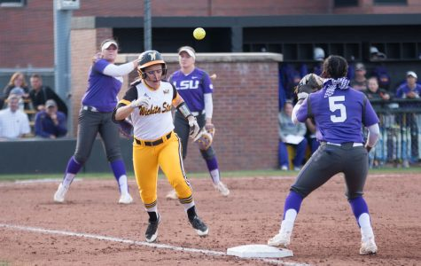 Wichita State one out from victory over No. 12 LSU, fall 4-3