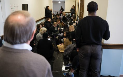 Students stage sit-in protest at President Bardo's office