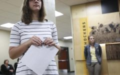 Students protest Wichita State Student Body President Paige Hungate