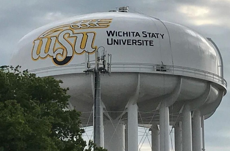 A university had quite the typo on a water tower