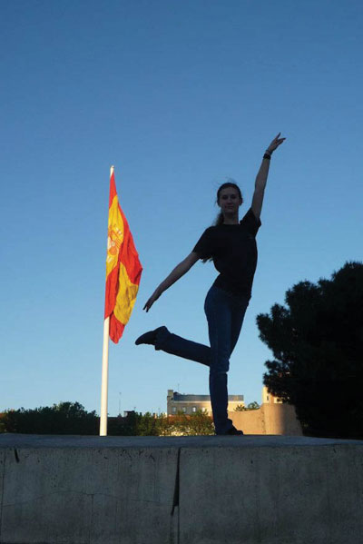 A member of the Wichita Contemporary Dance Theater poses while on the group's nine-day trip to Italy in May.