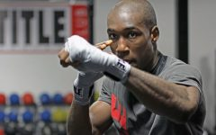 Wichita State student and professional boxer Manny Thompson trains for his Dec. 1 fight at Title Boxing Club.
