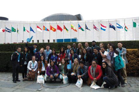 Before the UNICEF Campus Summit, the group visited the United Nations building in New York to learn about peacekeeping, security and humanitarian affairs the United Nations is doing around the world.