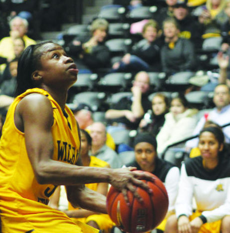 The Shockers Women's Basketball team brought in yet another win on Sunday against Loyola with a crushing final score of 65-50. Jamillah Bonner powered through the defensive line.