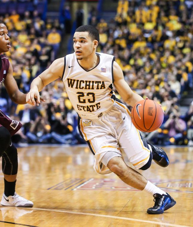 Fred+VanVleet+moves+down+the+court+in+Saturday%27s+game+against+Missouri+State.+The+Shockers+beat+the+Bears+67-42%2C+and+later+beat+Indiana+State+83-69+to+win+the+tournament.
