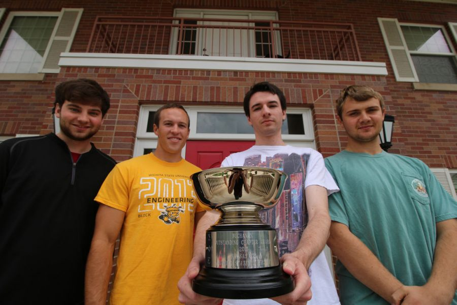 Wichita State's Sigma Phi Epsilon fraternity were awarded the Buchanan Cup last month for its accomplishments the last two years.