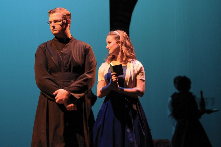 """Actors rehearse for """"The Light in the Piazza,"""" a romantic comedy set in 1950s Italy. The opera will be presented Thursday through Sunday at Miller Concert Hall. The musical is part of National Opera week."""