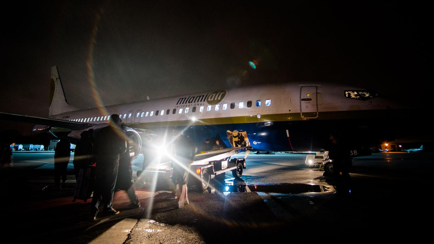 Wichita State players, coaches, cheerleaders, pep band and staff arrived to Providence on a chartered flight at 4:30 a.m. on Wednesday morning.