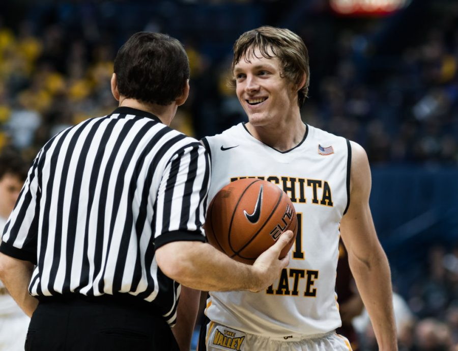 Ron+Baker+smiles+after+scoring+back-to-back+three-pointers+in+a+second+half+rally+against+Loyola.%C2%A0