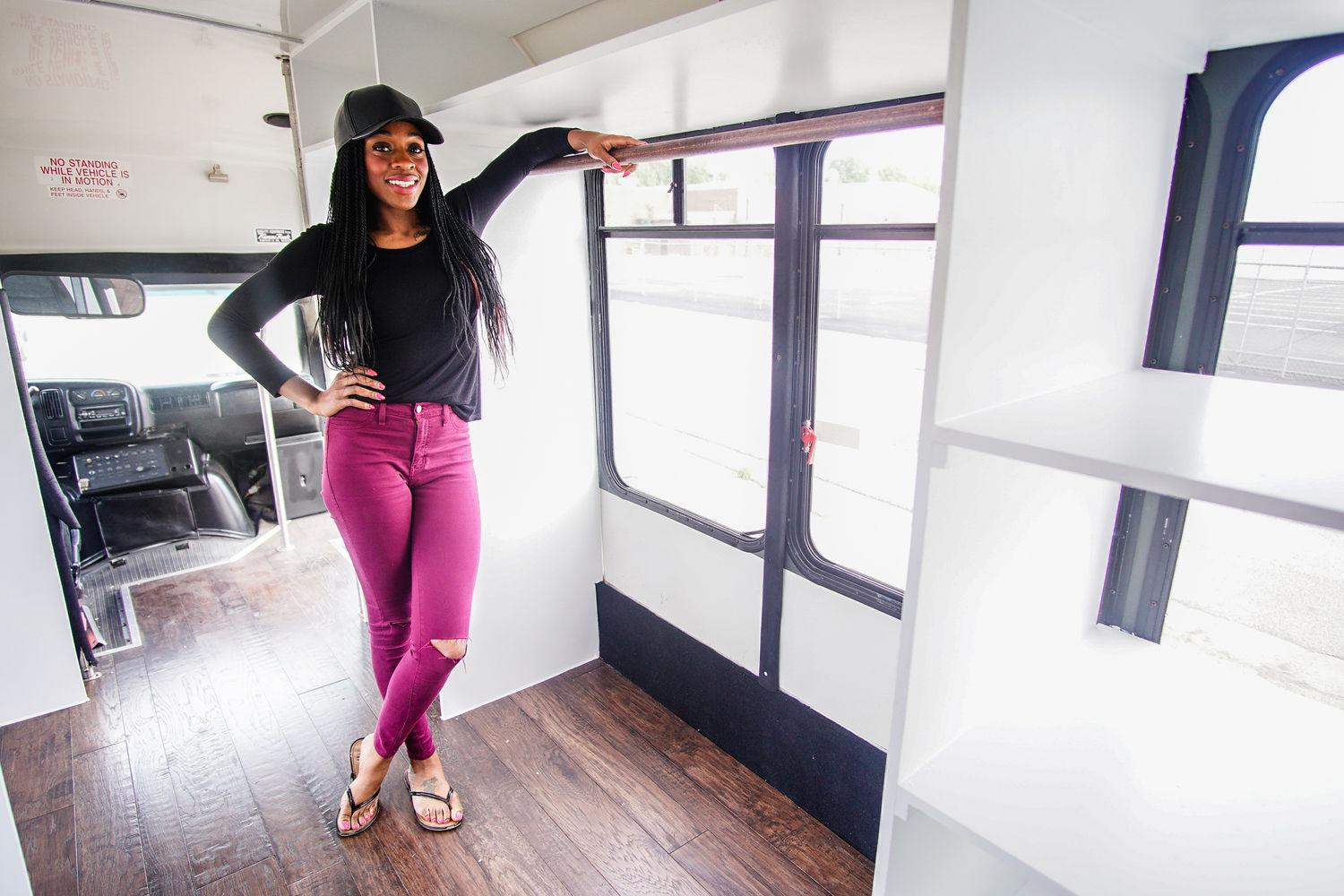 Phylicia Thompson, a senior graduating with a degree in social work, will soon open 2 Beatz Mobile, a traveling fashion boutique.