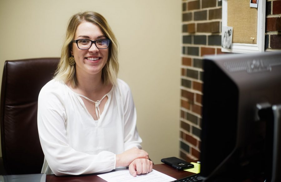 Pictured: SGA Campus Issues Chair Grace Sirois in her office.