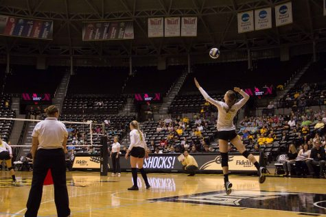 Wichita State volleyball can clinch AAC with road wins this weekend