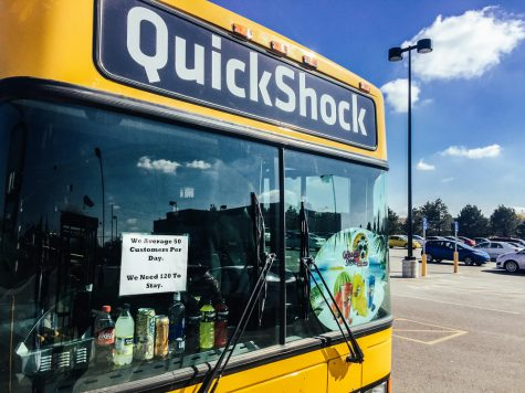 "The QuickShock convenience shop at the Hughes Metroplex recently put up signs stating ""We average 50 customers per day. We need 120 to stay."" The store opened in mid-September and has failed to bring in as many customers as is necessary for it be a viable business."