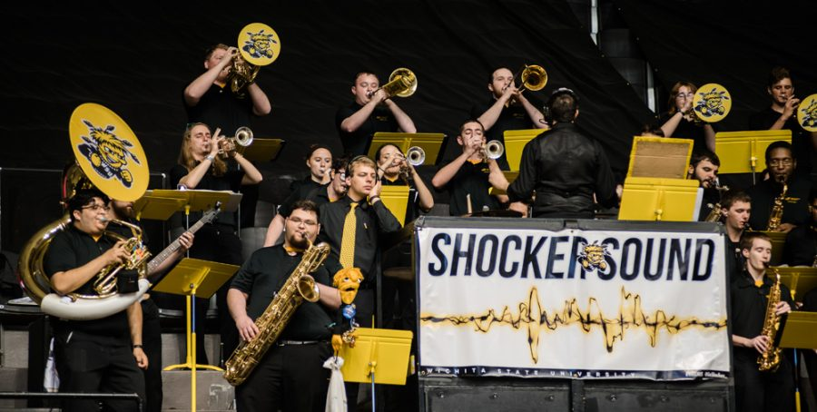 Shocker+Sound+Band+plays+during+Shocker+Madness.
