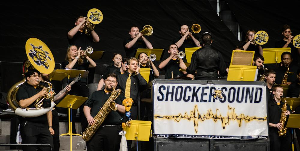 Shocker Sound Band plays during Shocker Madness.
