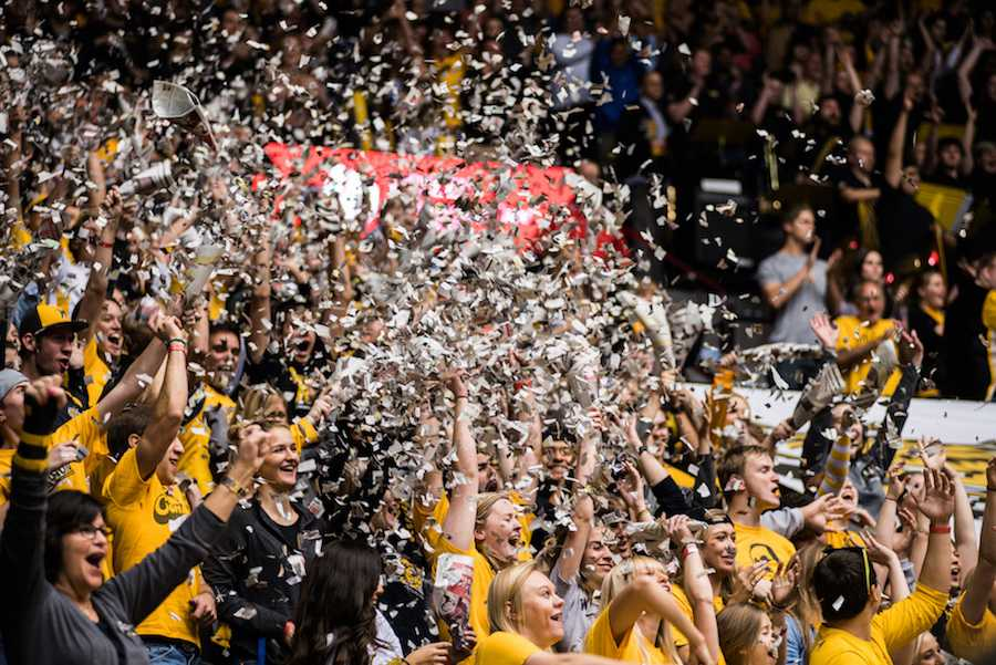 Wichita+State+fans+celebrate+the+start+of+Friday%27s+game.+