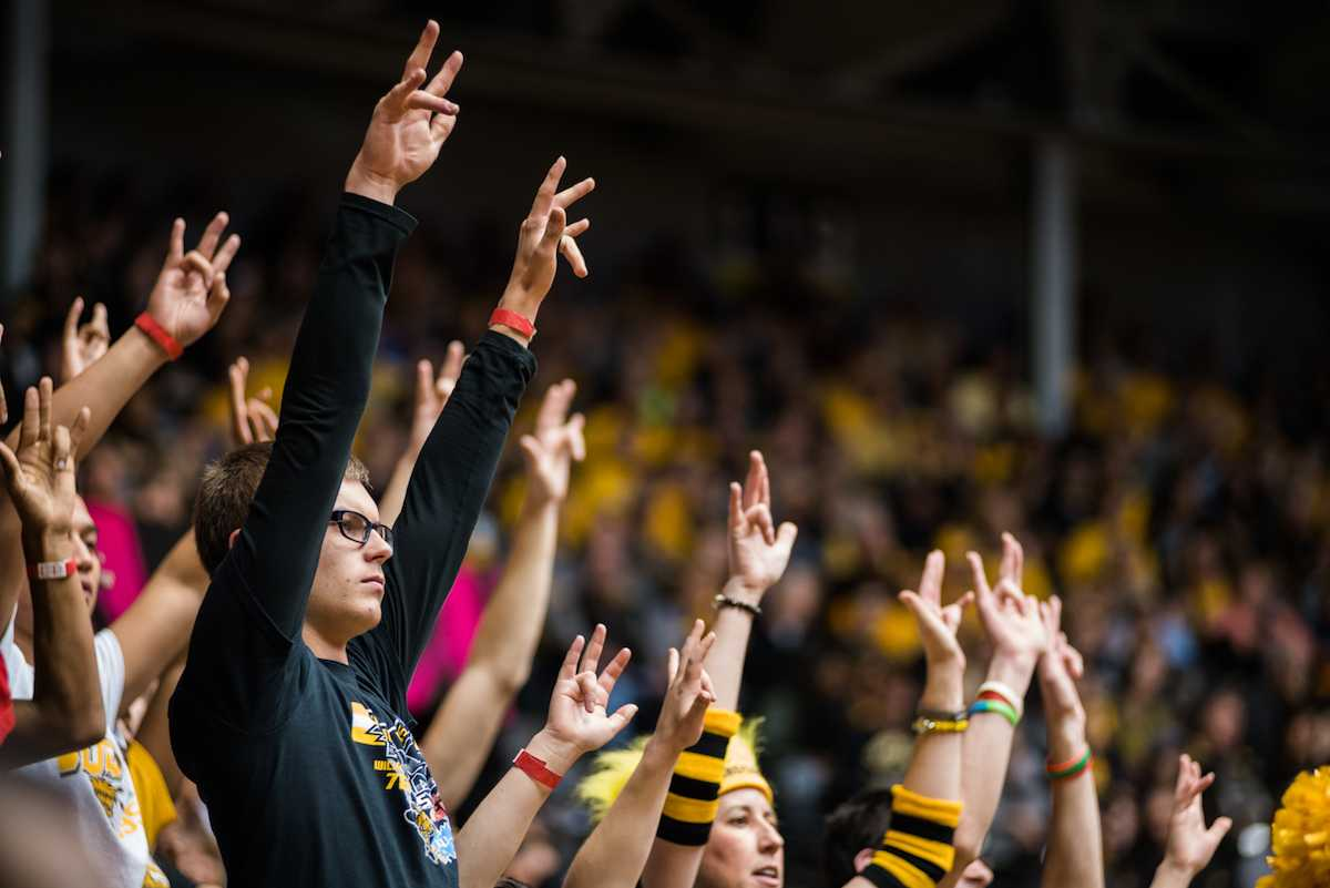 Wichita+State+fans+show+support+during+Friday%27s+game.