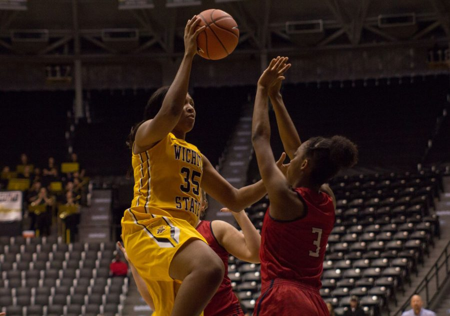 Rangie Bessard pulled in nine rebounds in the second half while adding 19 points in Wichita States victory Wednesday night.