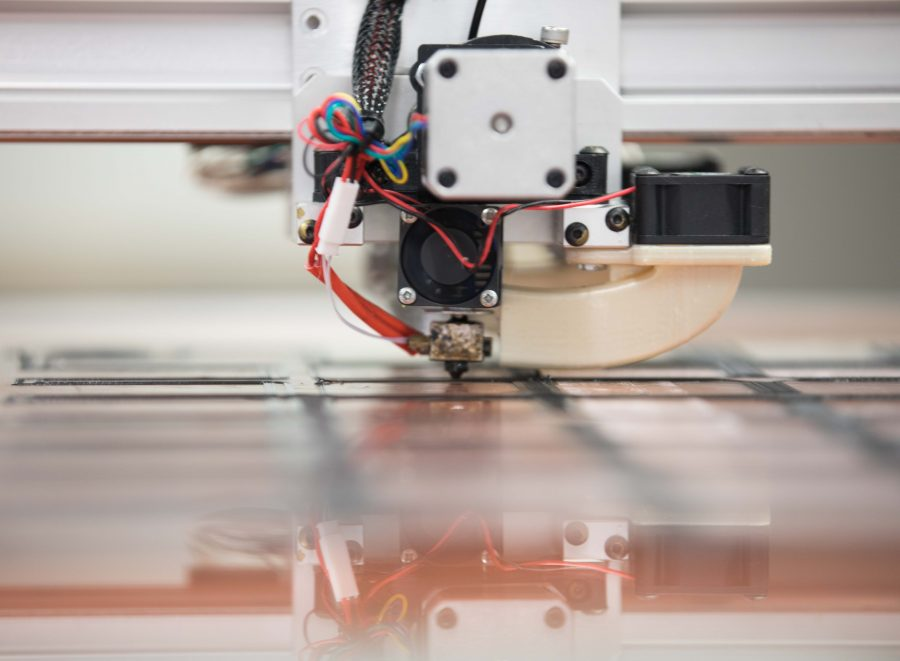 A 3-D printing machine works in the new Experiential Engineering Building. The 142,661 square building features labs and equipment for the community to create whatever they can imagine. (Jan. 17, 2017)