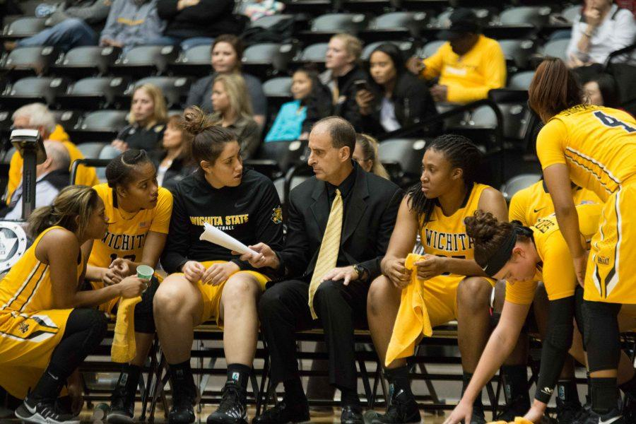 Wichita State assistant coach Kirk Crawford takes over coaching Friday evening against Bradley. Jan. 20, 2017