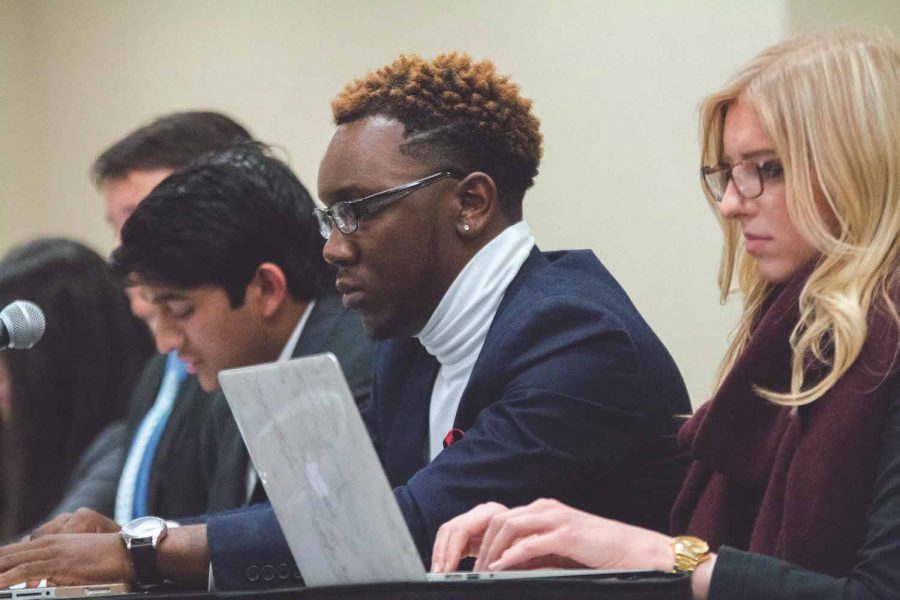 The Student Government Association of Wichita State University discussed a proposal that would lower campaign budgets.