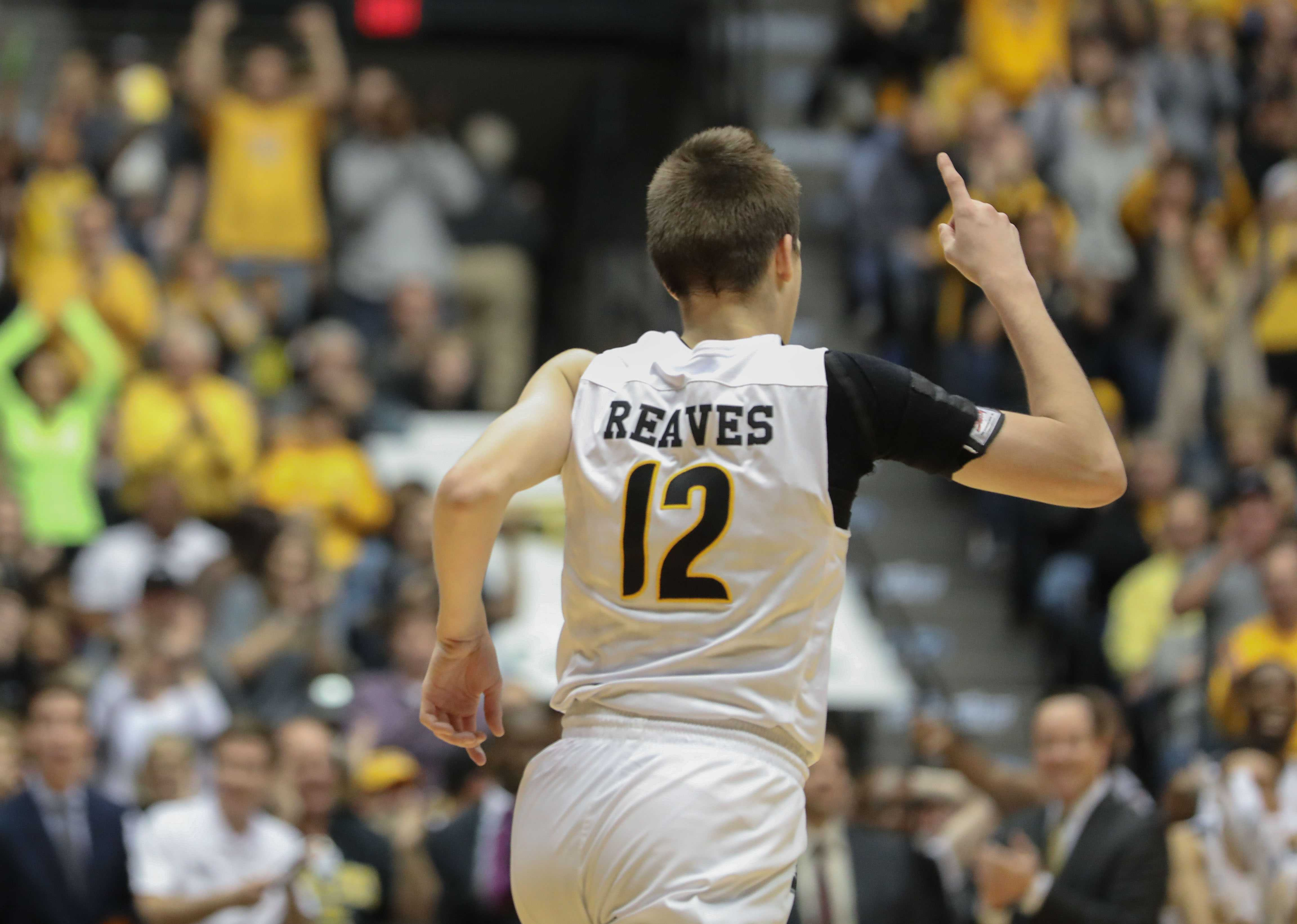 Wichita+State+guard+Austin+Reaves+%2812%29+celebrates+a+dunk+during+the+Shockers+win+over+Indiana+State+on+Saturday+afternoon.+Reaves+scored+11+points+during+the+victory.+%28Jan.+21%2C+2017%29