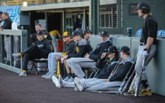 The Wichita State baseball team scrimmages at Eck Stadium on Feb. 10, 2017.