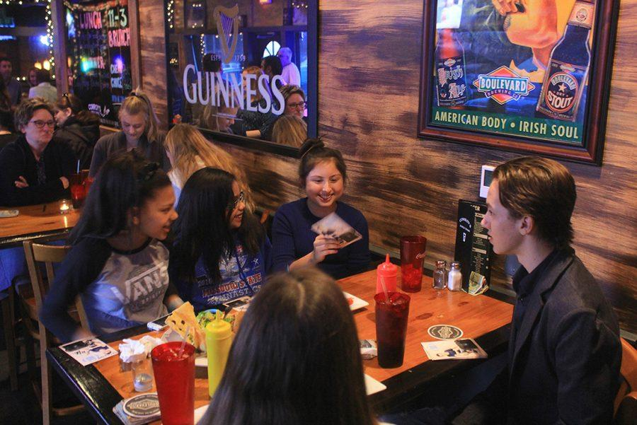 Actor Hayden Byerly chats with fans at Conroy's in Westwood Thursday evening at a meet and eat to celebrate the launch of Byerly's non-profit Hayden's Hope Totes in Kansas. HHT donates duffel bags to foster children who are moved to different homes while in the system.
