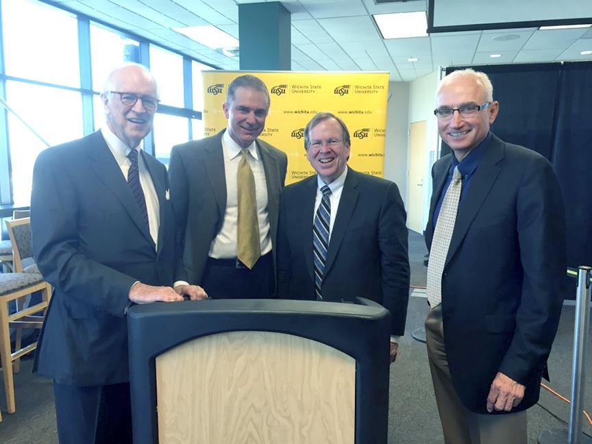 Courtesy Photo  From left: Nestor Weigand, Jr., Steve Barrett, David Murfin, Ivan Crossland, Jr. They are the developers of The Flats at WSU (MWCB, LLC)