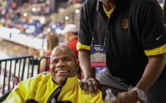 Cliff Levingston supports Wichita State in Indianapolis