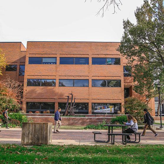 Wallace Hall is located directly south of Ablah Library on Wichita State's main campus.