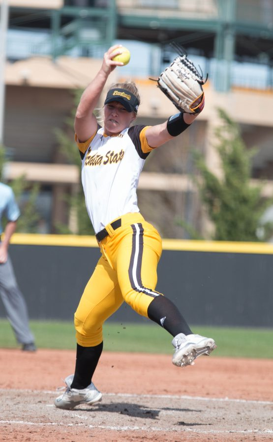 Senior Katie Malone delivers a pitch against Indiana State.