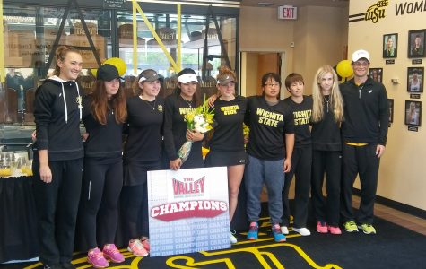 The women's tennis team clinched the MVC regular season championship title. (File photo)