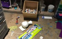 Vandals 'ransack' Wichita State student's painting studio, leave signatures, shoeprint