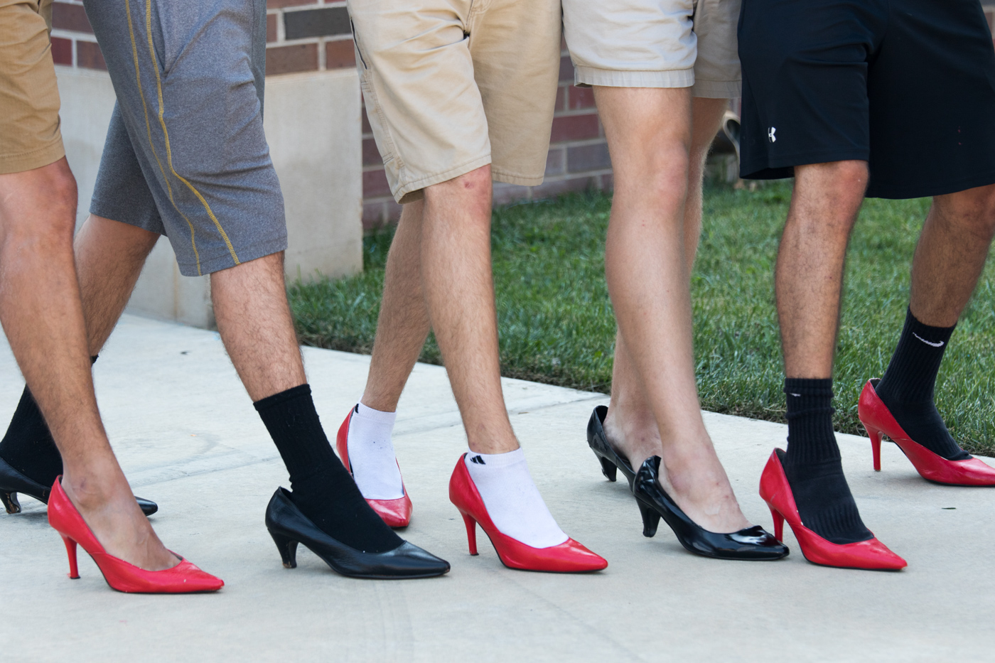 FROM THE FILES: A group of guys wearing high heels for the 2017 Walk-A-Mile.