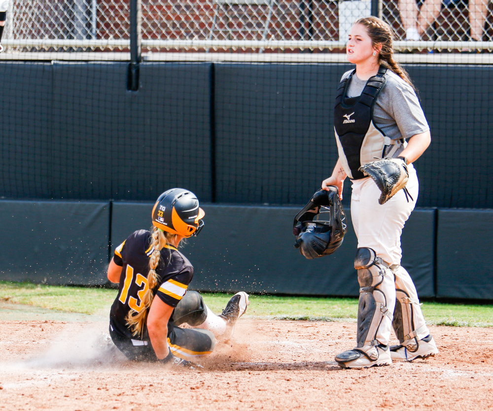 Wichita+State%27s+Ryleigh+Buck+%2813%29+slides+into+home+plate+Saturday+afternoon+at+Wilkins+Stadium.+%28Sept.+16%2C+2017%29