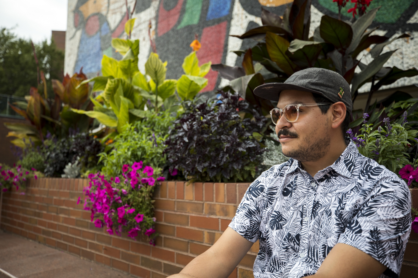 "New adjunct-lecturer Armando Minjarez, who won a $100,000 grant for an art project called ""Horizontes."""