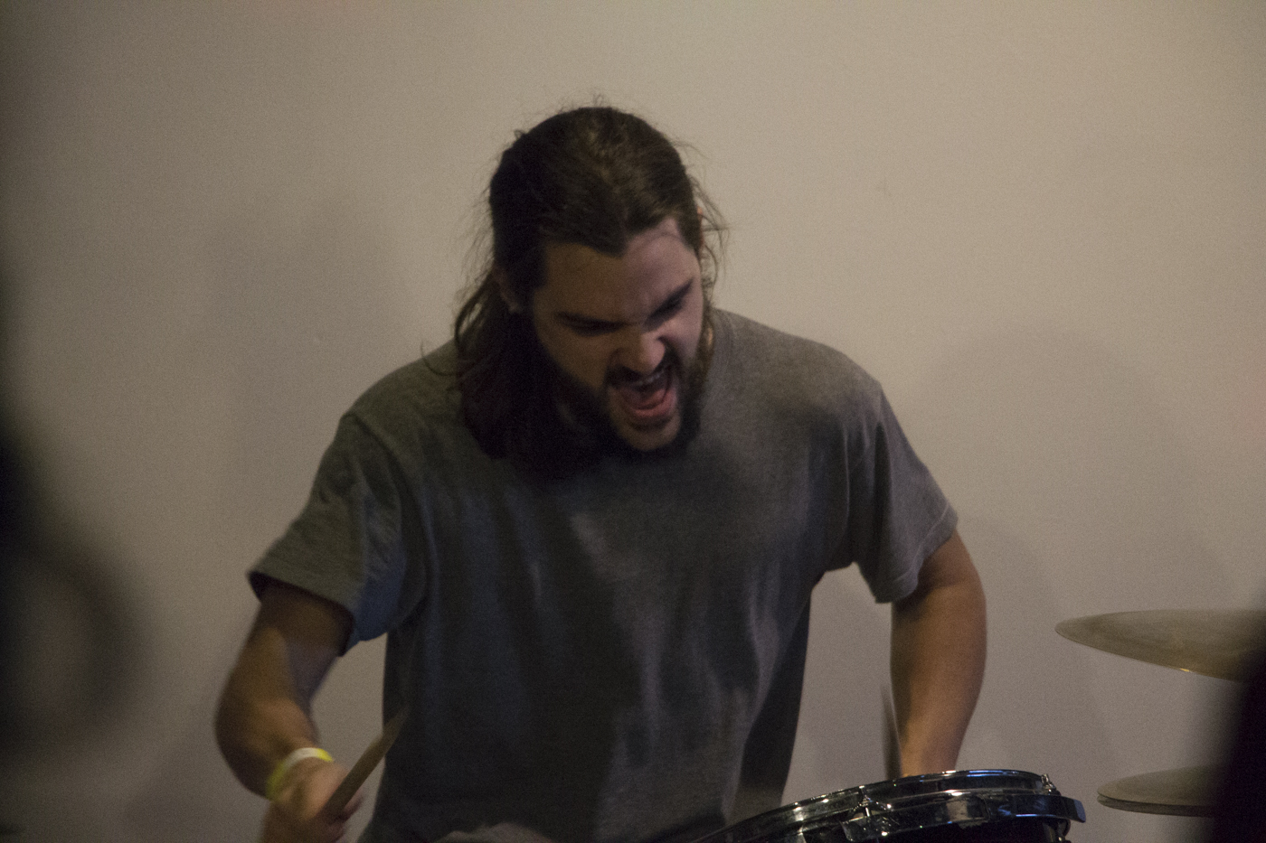 Death-metal duo The Central performed Friday night at Harvester Arts for ICT Fest.