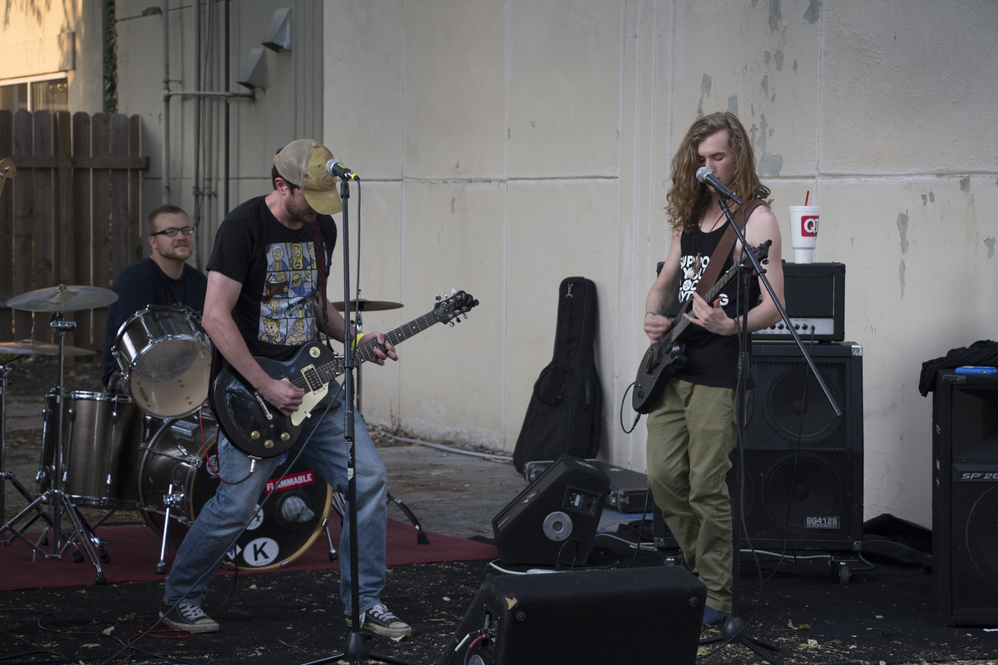 Four-piece punk band Kill it with Fire held an early set-time during ICT Fest