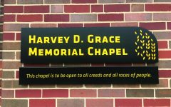 "New sign at chapel: ""Open to all creeds and races of people"""