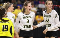 Unranked Wichita State upsets No. 8 Creighton 3-1 in home opener.
