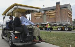 Special delivery: Pizza Hut cofounder visits campus for building relocation